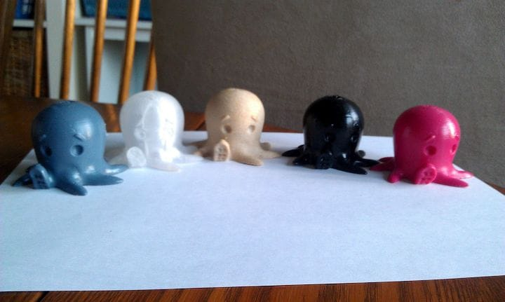 Smoothed PLA prints