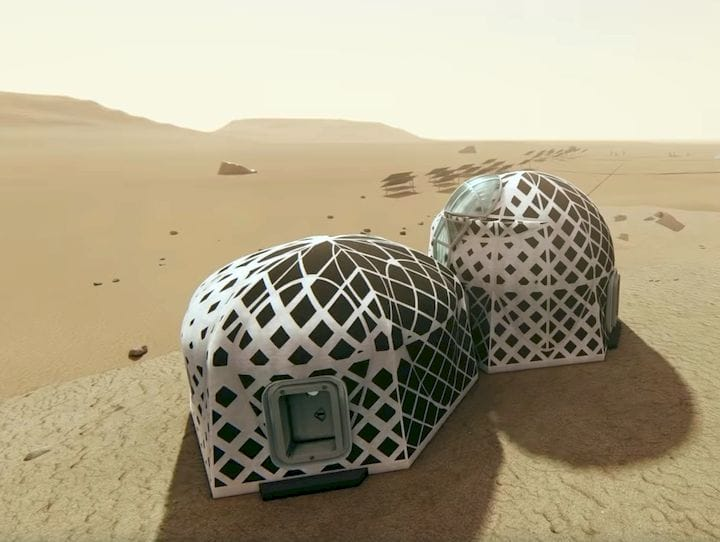 The second place winner in NASA's 3D Printed Habitat competition [Source: NASA]