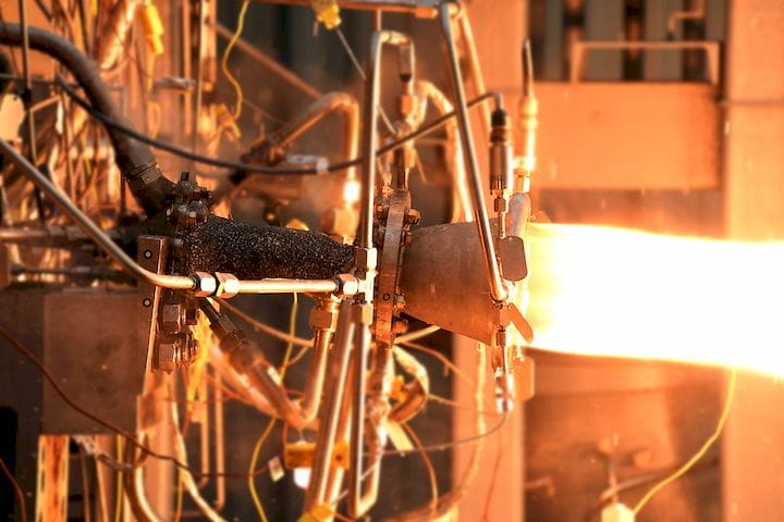 Testing a 3D printed rocket thruster with composite overwrap [Source: NASA]