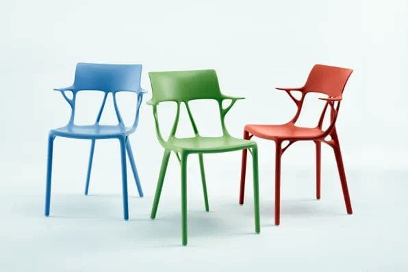 Generatively designed chairs [Source: Autodesk]