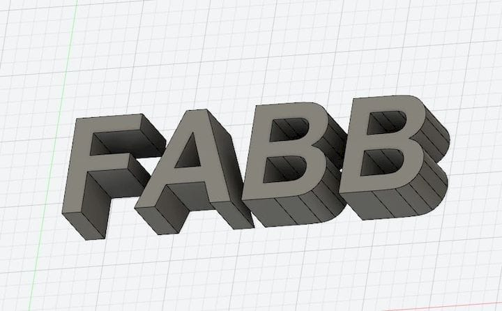 How to join letters together in a 3D model [Source: Fabbaloo]