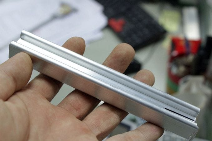 A low-cost sample metal extrusion made for the IVI 3D printer [Source: IVI 3D]