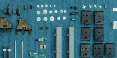 Large format printer spare parts printed on demand reducing excess inventory and transport emissions. [Image: HP Inc.]