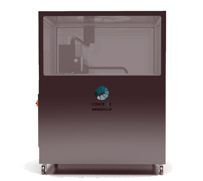 The Armadillo Black stone 3D printer [Source: Concr3de]