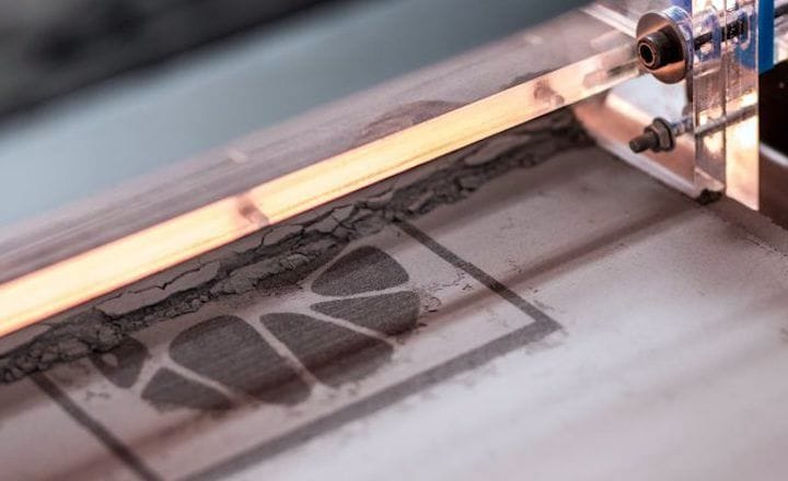 The Concr3de stone 3D printing process [Source: Concr3de]