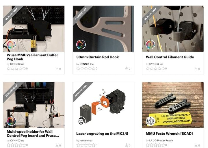 Prusa's new Model Marketplace [Source: PrusaPrinters]