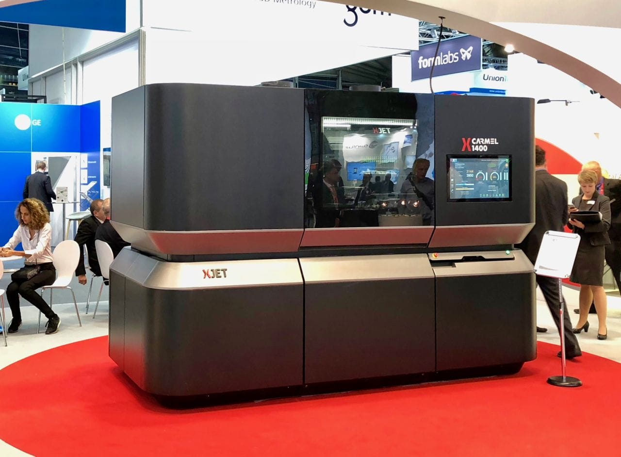 The XJET Carmel 1400 at a recent 3D printing trade show [Source: Fabbaloo]