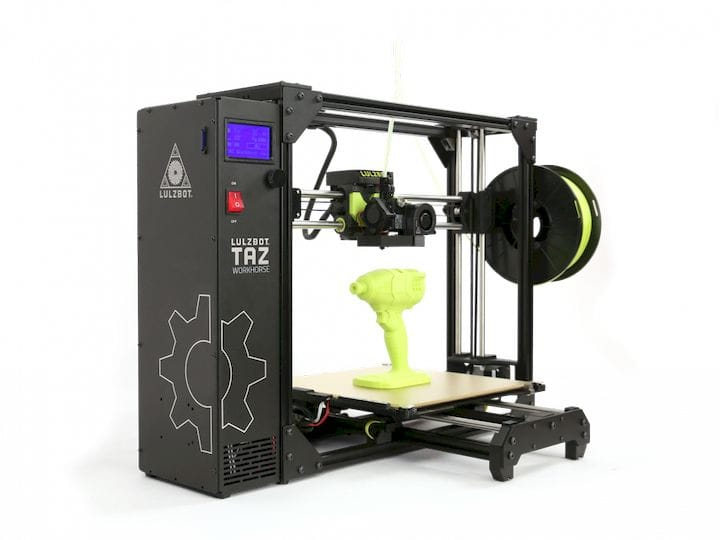 The TAZ Workhorse Edition professional desktop 3D printer [Source: Aleph Objects]