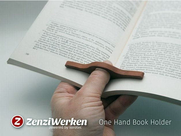The One Hand Book Holder [Source: Thingiverse]