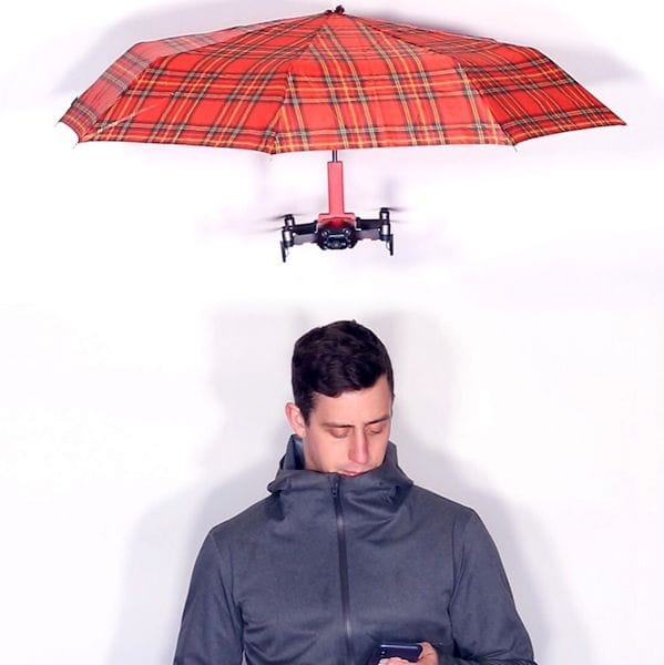 The HoverBrella follows you automatically and keeps you dry [Source: Matt Benedetto]