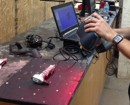 Using a handheld 3D scanner [Source: Fabbaloo]