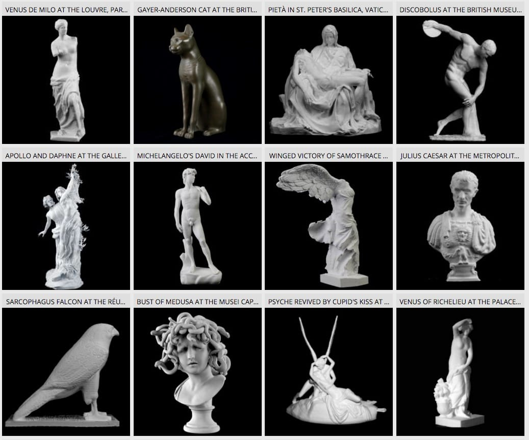 Where can you store your 3D scans of sculptures? [Source: Fabbaloo]