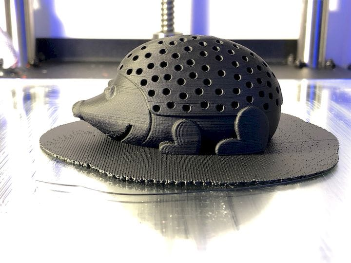 A HIPS 3D print from the Kodak Portrait 3D printer [Source: Fabbaloo]