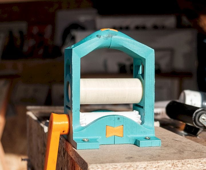 The 3D printed Printmaking Press [Source: Open Press Project]