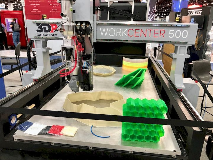 The 3D Platform WorkCenter 500 large format 3D printer [Source: Fabbaloo]