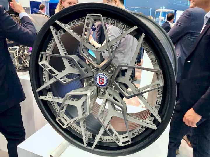 The titanium 3D printed HRE3D+ wheel [Source: Fabbaloo]