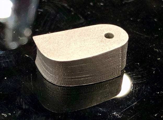 A tiny metal 3D printed part by 3DEO that did not have to be resized manually [Source: Fabbaloo]