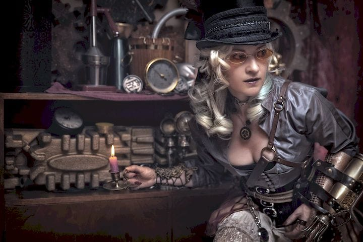 What kind of steampunk could be made if 3D printing was involved? [Source:  Belle Art Portrait  and  Style Hunter Fox ]