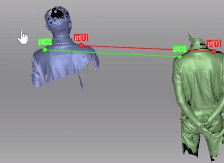 Artec Studio 14 can join two 3D scans together very easily [Source: Artec]