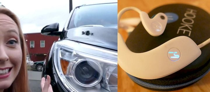 Examples of devices with non-imaging optics: 2013 Buick Enclave headlamp (which may be a project I personally was engineer on and had multiple migraines over) and LED-powered indicator light on Hooke Verse headphones. [Source: SolidSmack]
