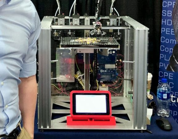The E3D-Online tool-changing 3D printer [Source: Fabbaloo]