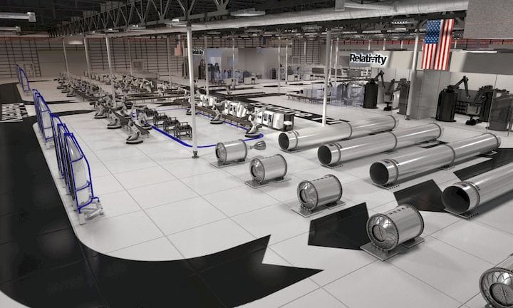 Concept image of Relativity Space's proposed rocket factory [Source: TechCrunch]