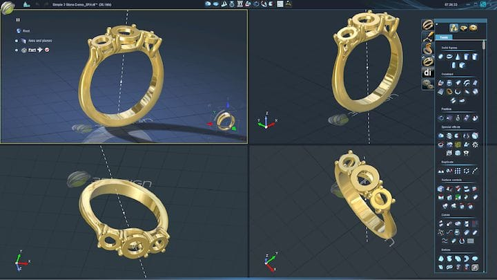 3Design jewelry CAD software [Source: 3Design]
