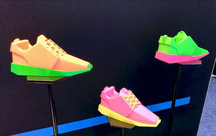 A set of brilliantly colored neon 3D prints by DyeMansion [Source: Fabbaloo]