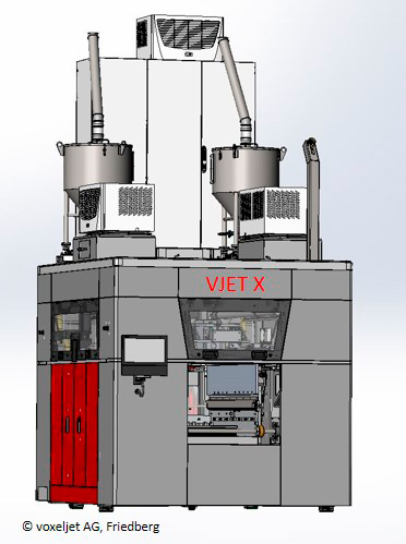 "A rendering of a VJET X 3D printer for ""additive mass manufacturing"" [Image: voxeljet]"