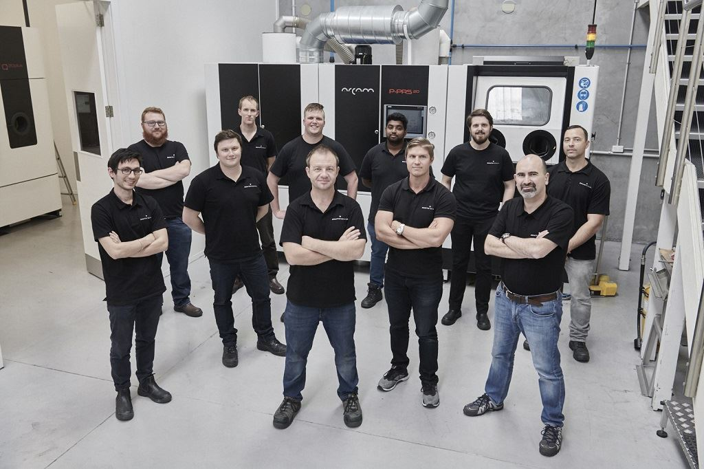 The Zenith Tecnica team with an Arcam EBM system [Image: GE Additive]