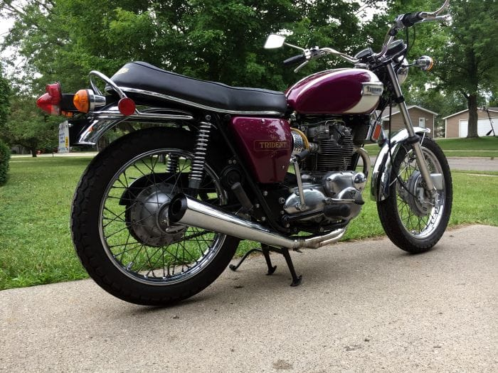 Restored 1972 Triumph Trident [Image: Giles Gaskell]