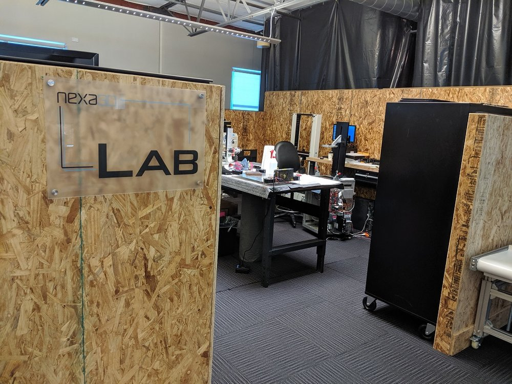 Dedicated Nexa3D lab space [Image: Fabbaloo]
