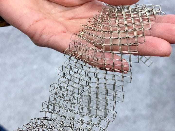 An extremely fine 3D printed metal mesh by Velo3D's Sapphire system [Source: Fabbaloo]