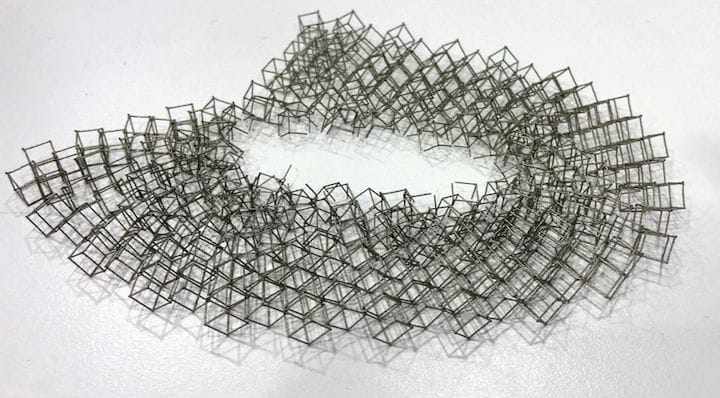 Example of the delicate metal 3D prints possible on the Velo3D Sapphire system [Source: Fabbaloo]