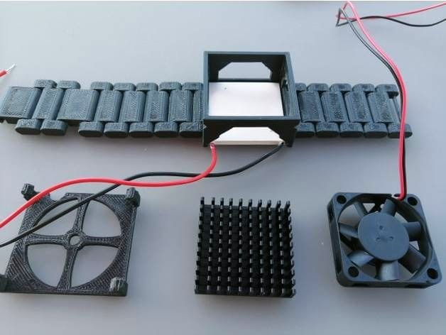 Parts for the 3D printed Personal Peltier Cooler [Source: Thingiverse]