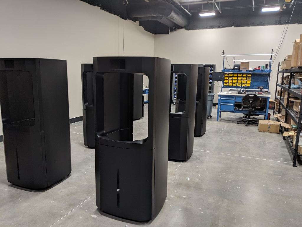 The first set of NXE 400 units ready for assembly [Image: Fabbaloo]