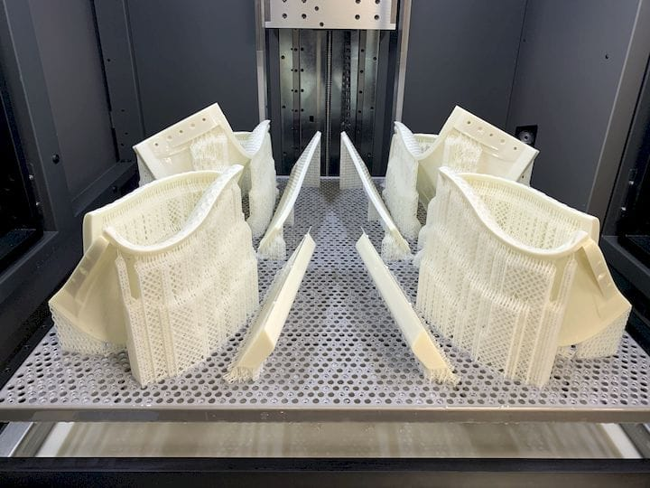 SLA 3D prints made by the Oxford Brookes Racing team [Source: RPS]