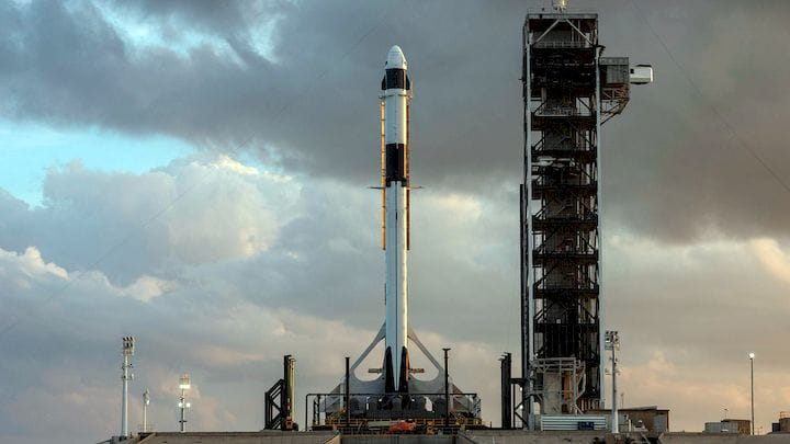 The Dragon 2 space capsule atop a Falcon 9 rocket [Source: SpaceX]