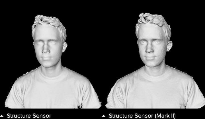 Comparing the original and new Structure Sensor (Mark II) [Source: Occipital]