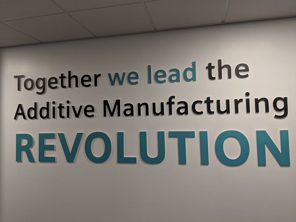 Materials Solutions' UK facility  highlights an important leadership message for Siemens [Image: Sarah Goehrke/Fabbaloo]