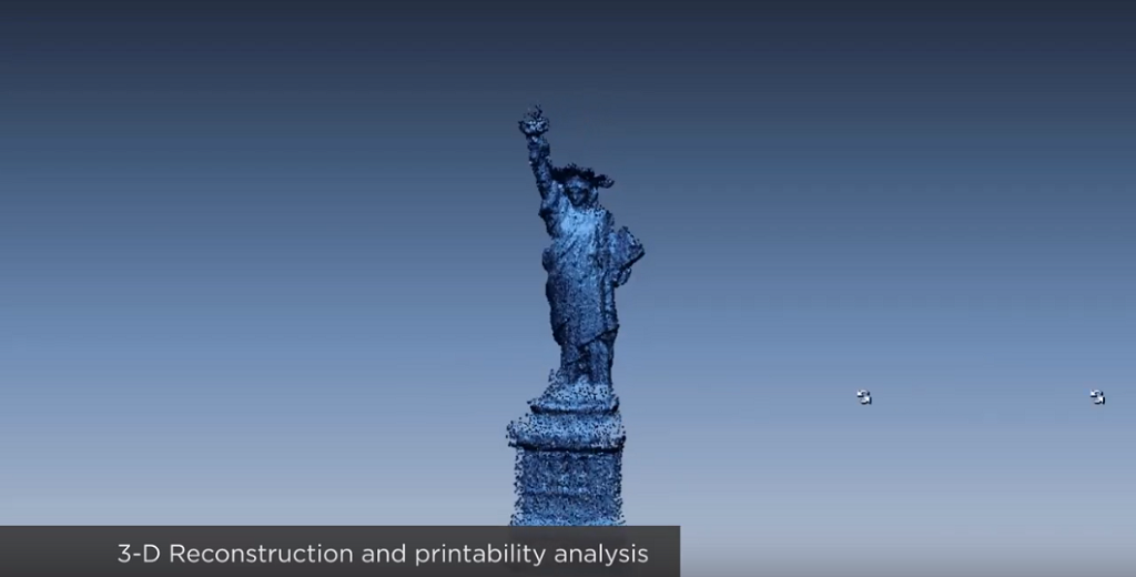 A Statue of Liberty model being populated in Source Form [Image: Virginia Tech via YouTube]