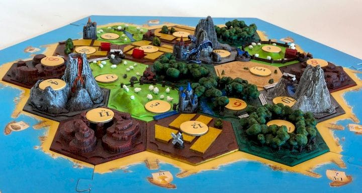 A 3D printed Settlers of Catan board [Source: Instructables]