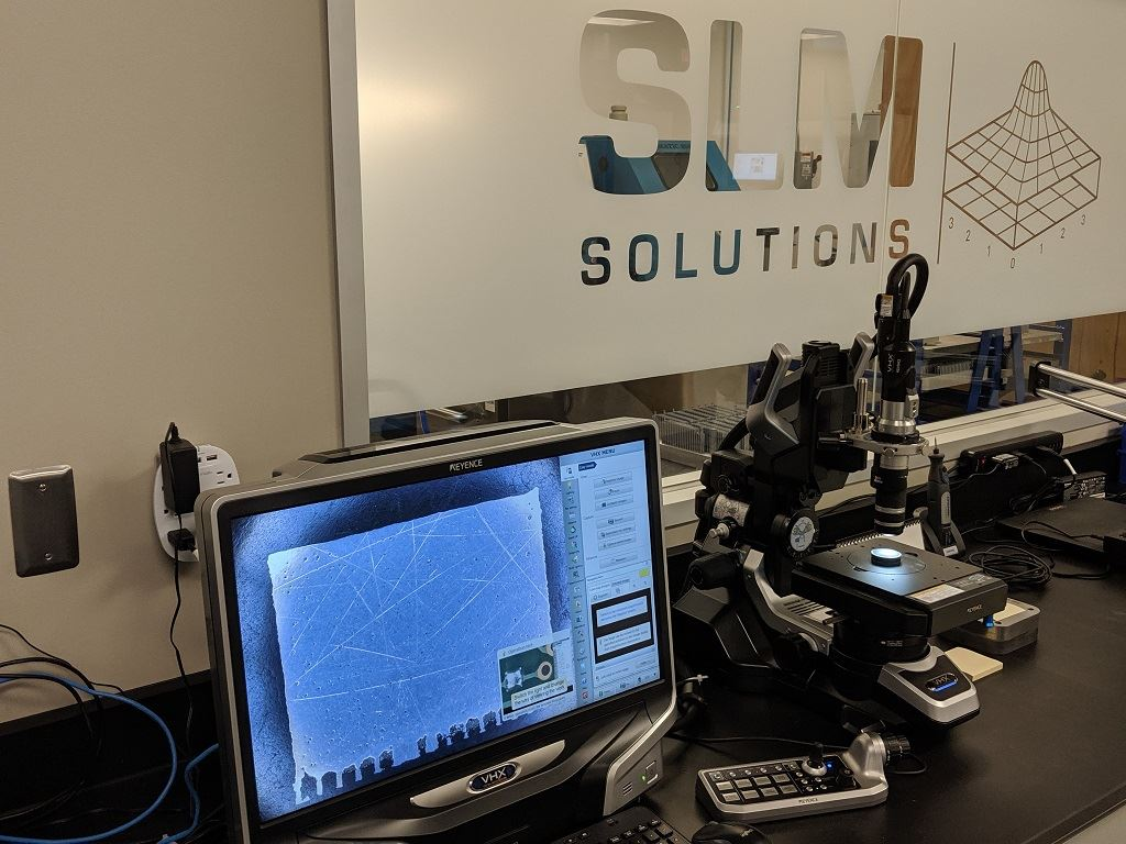 SLM Solutions North America examines parts — and strategies [Image: Fabbaloo]