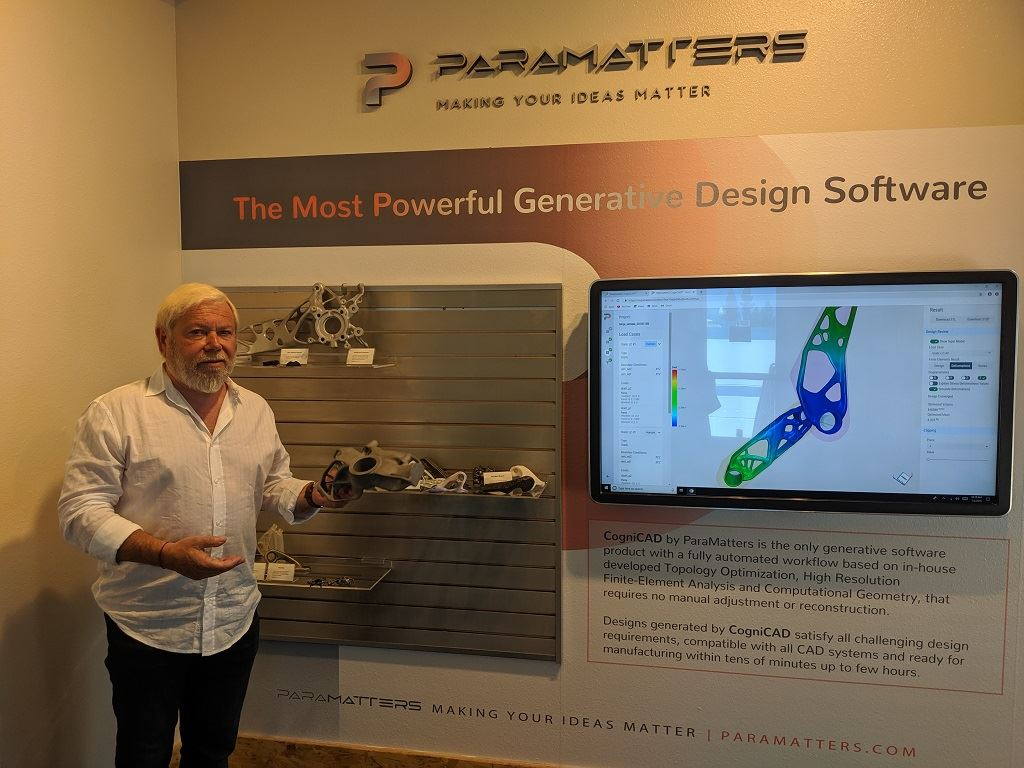ParaMatters Co-Founder and Chairman Avi Reichental at HQ in Ventura, July 2019 [Image: Fabbaloo]