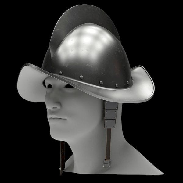 The Spanish Medieval Knight Morion Helmet 3D model [Source: CGTrader]