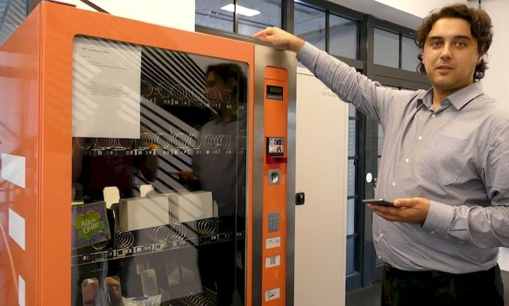 Old Coca-Cola vending machine hacked to accept cryptocurrency. [Source: SolidSmack]