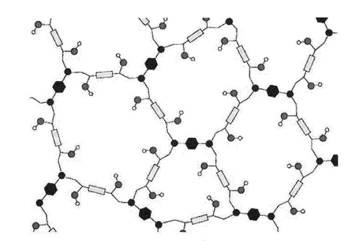 Tiger Coatings' crosslinked thermoset network [Source: Google Patents]
