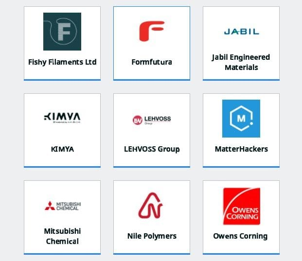 Some of the participating 3D printer materials vendors on Ultimaker Cura Marketplace [Source: Fabbaloo]