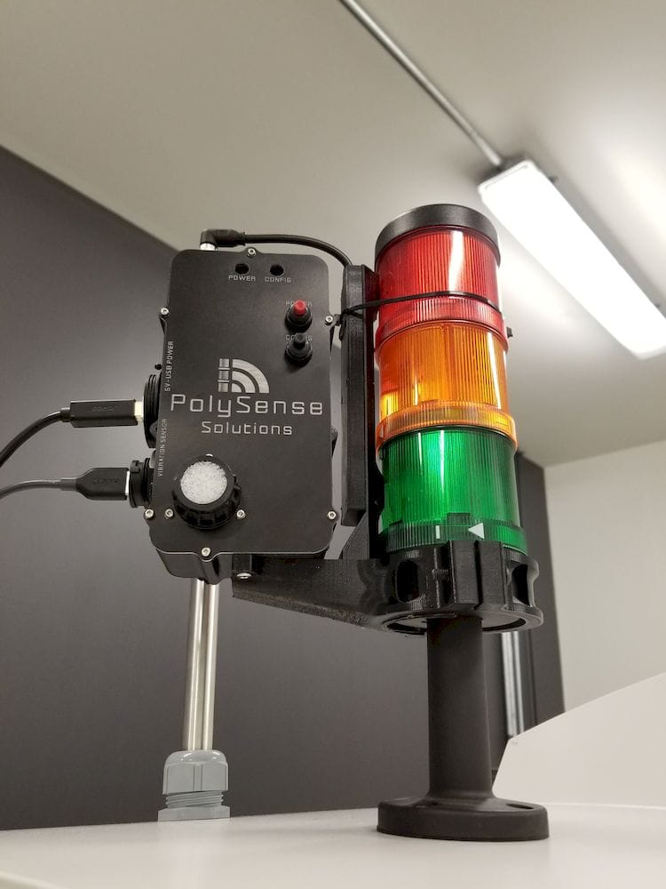 Real time activity sensor installed on a metal 3D printer [Source: Polysense Solutions]