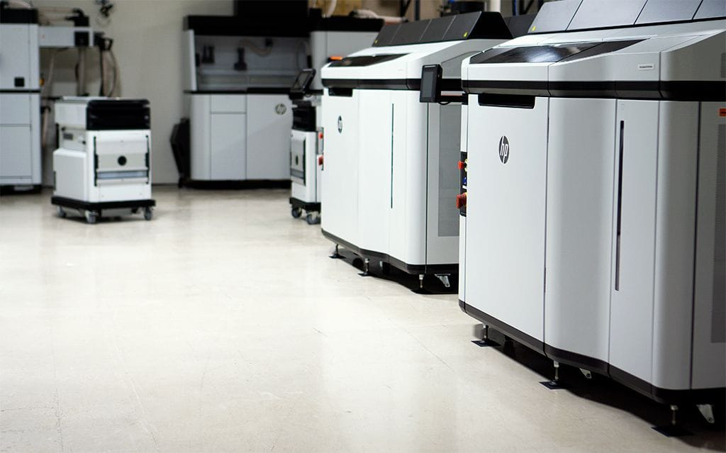 HP 5210 3D printers at FORECAST 3D [Source: FORECAST 3D]